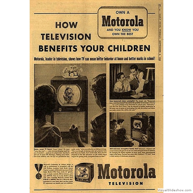 Old Ads you'll never see again!!<br/>Motorola TV