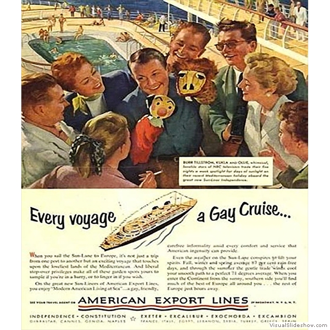 Old Ads you'll never see again!!<br/>American Export Lines